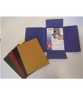 Carpeta gomas foliolio solapas carton compacto mate nº 10 amarillo saro - 111267