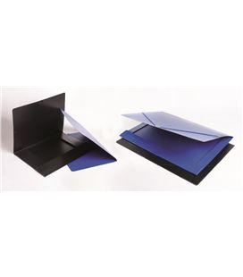 Carpeta gomas dibujo a3 con solapas carton compacto azul saro - 111276