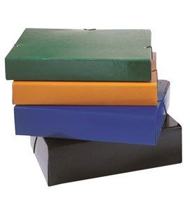 Caja proyectos lomo 5cm gomas amarillo carton compacto brillo montada saro - 111286