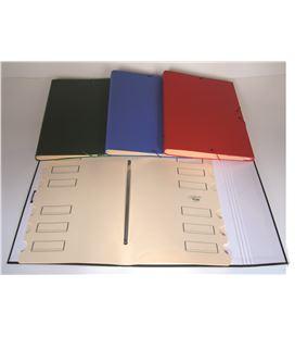 Carpeta clasificadora 12 dptos. foliolio solapa foliorrado telflex azul saro - 111306