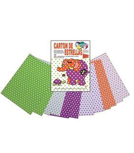 Carton estrellas neon bolsa 12 laminas 24x32cm 6 colores niefenver