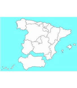 Mapa de españa gigante+com. autonomas cartulina 300 gr 71x62cm niefenver - 113150