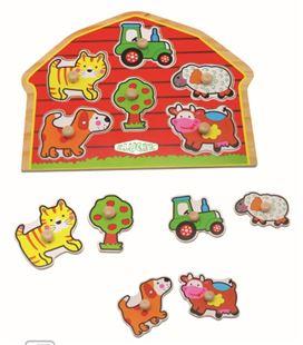 Encaje animales granja 10 piezas madera kluger d11020