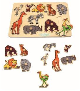Encaje animales salvajes 10 piezas madera kluger d11015