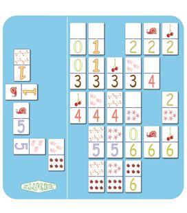 Domino numeros 1-6 fichas gigantes carton plastificado 4,5x9cm kluger