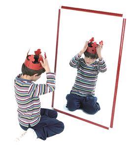 Espejo infantil irrompible 100x65 cm madera tintada henbea 755/a - 113287
