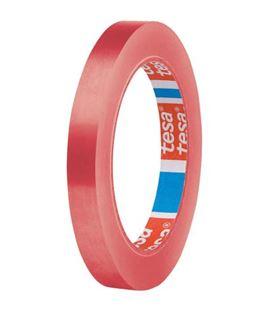 Cinta adhesiva pvc roja 66mx12mm cierra bolsas tesa 62204-00001-00