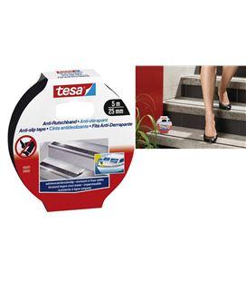 Cinta antideslizante para escaleras 5m x 25mm negro tesa