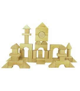 Cubo 60 bloques madera natural construcción smart