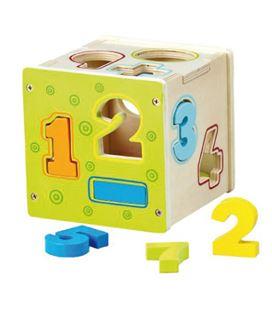 Cubo madera foliormas y números smart