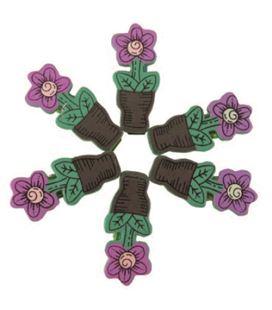 Pinzas de madera pack 6 macetas flores smart - 112107