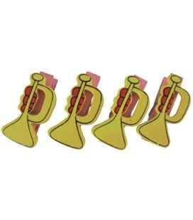 Pinzas de madera pack 5 trompetas smart - 112110
