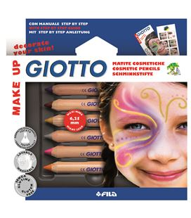 Maquillaje lapices set 6 uds. colores fantasia make up giotto 470800