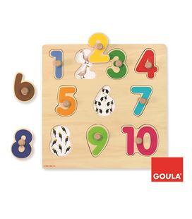 Encaje numeros 10 piezas madera goula - 112704
