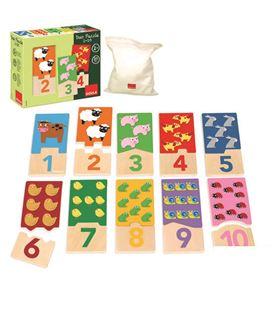Puzzle duo 1-10 20 piezas madera goula - 114665