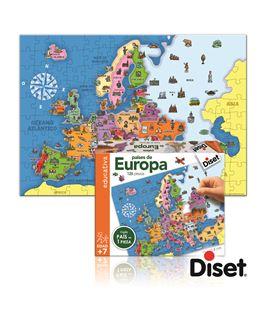 Puzzle paises de europa 125 piezas diset - 114648