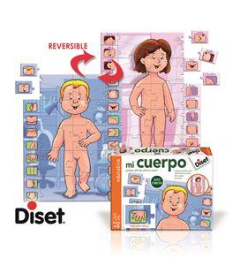 Puzzle reversible mi cuerpo dos caras 10 diset - 112891