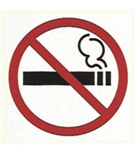 Etiqueta señalizadora prohibido fumar 120 x 180mm 2 ud. apli - 113163