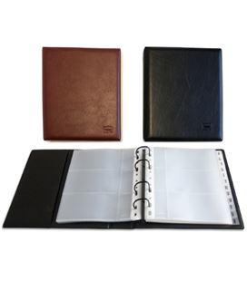 Tarjetero executive 4 anillas negro pvc 235x195x45 grafolioplas 03796010 - 037960