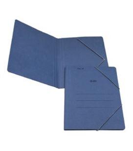 Carpeta gomas folio sin solapa azul saro 6001 (descatalogado) - 6001
