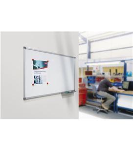 Pizarra blanca 90x60 cm magnetica acero vitrificado classic nobo