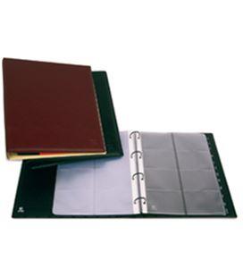 Tarjetero 4 anillas a4 pvc 320 tarjetas executive negro grafolioplas 03726010 - GP03726010