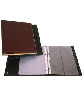 Tarjetero 4 anillas a4 pvc 320 tarjetas executive cuero viejo grafolioplas - 222033