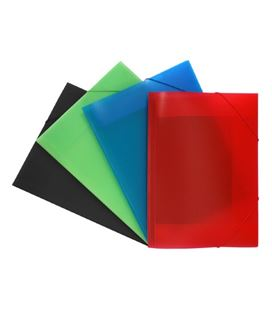 Carpeta gomas pp a3 solapas pack 12 surtidas transl. lomo rotulable colorgr