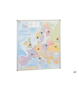 Mapa europa politico magnético m/aluminio 93x119cm faibo 163