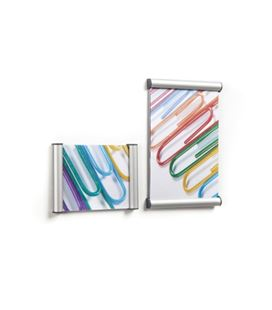 Portarrótulo de aluminio perfil 15mm. 21 x 29,7 cm basic snap planning - BL_RO_0004