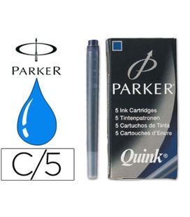 Cartuchos tinta estilografica 5uds azul permanente parker s0116240 - 16497