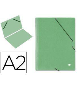 Carpeta planos a2 con goma verde q-connect 27156 - 27156