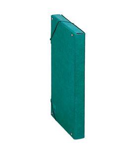 Carpeta proyecto folio 3cm carton foliorrado verde dohe 09722
