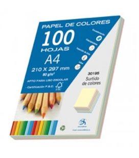Papel a4 80gr 100h colores pastel dohe 30195 - 30195