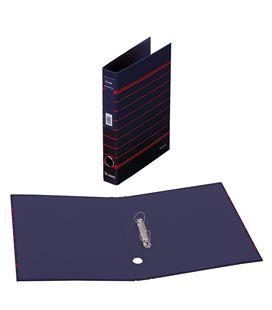 Carpeta 2 anillas a4 rayado azul policolor dohe 90143 - 90143