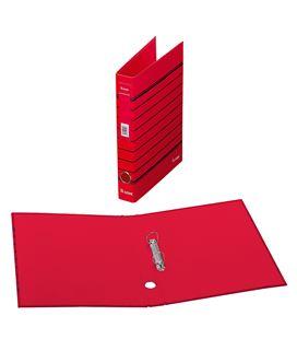Carpeta 2 anillas a4 rayado rojo policolor dohe 90144