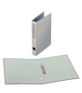 Carpeta 2 anillas a4 rayado gris policolor dohe 90147