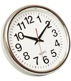 Reloj pared redondo cromado q-connect 22366 kf15589 - 113529