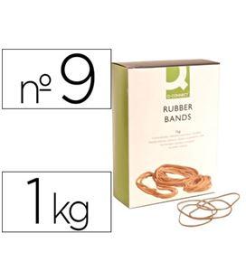 Goma elastica 90mm 1kg caja q-connect kf14686 - 54325