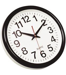 Reloj pared redondo negro q-connect 22367 kf15590 - 113530