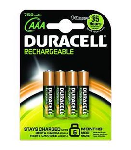 Pilas recargables accu 4uds aaa duracell - 110621