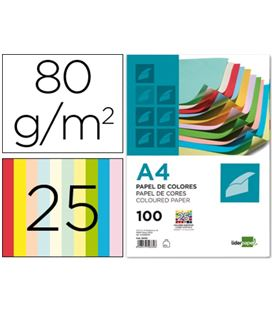 Papel a4 100h color surtido liderpapel pc62- 50332 - 50332 LIDERPAPEL