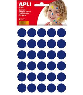 Gomet bolsa circulo grande 20mm azul 6h apli 13226 - 41599