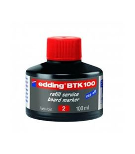 Tinta recargable pizarra blanca rojo edding btk-100-02