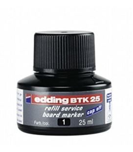 Tinta recargable pizarra blanca negro edding btk-25-01