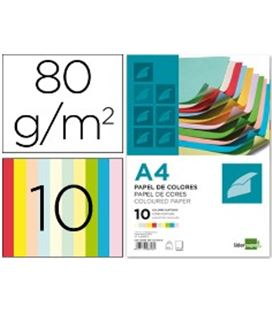 Papel a4 100h color surtido liderpapel pc52 28308