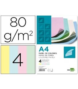 Papel a4 100h color pastel surtido pc53 liderpapel 28242 - CS28242