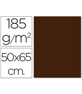 Cartulina 50x65cms 25h 185grs chocolate guarro 200040242