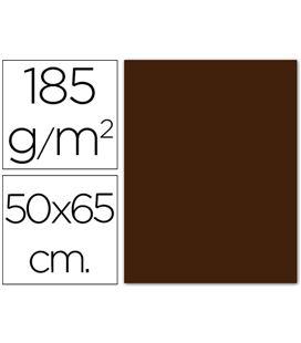 Cartulina 50x65cms 25h 185grs chocolate guarro 200040242
