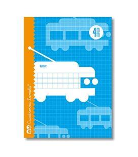 Cuaderno 4º 4mm 30h 70g cuadrovia lamela 06004 102331 - 06004